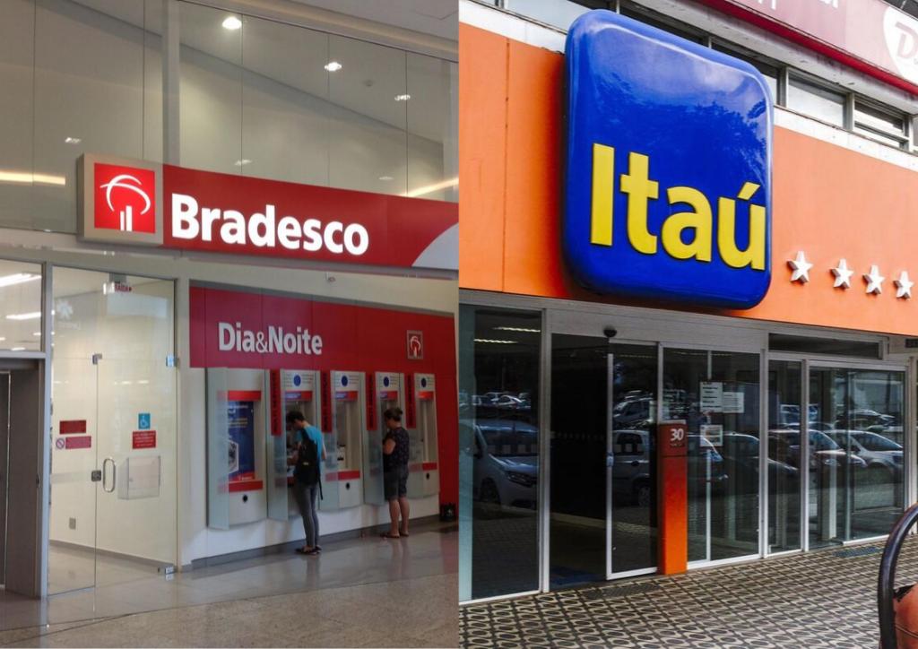 agencias Bradesco e Itaú