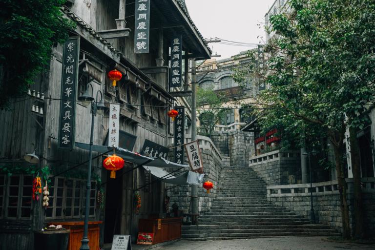 bairro antigo escadaria china