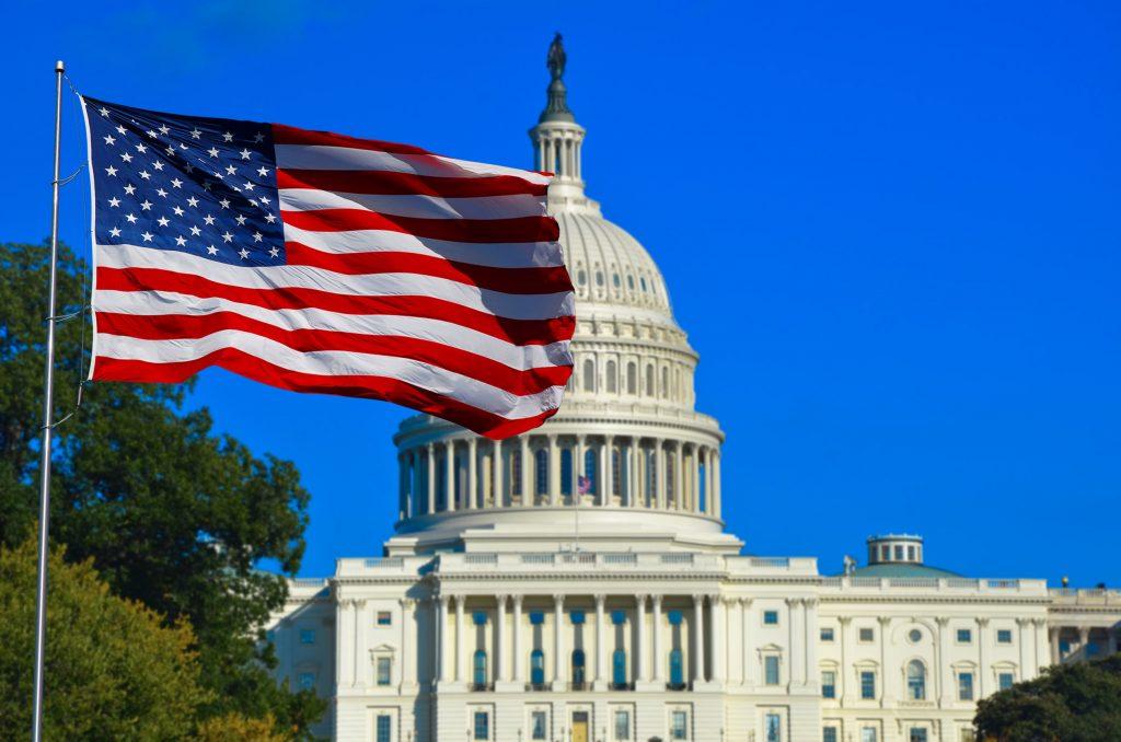 bandeira americana casa branca