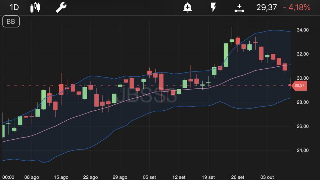 JBS, ações no TradeMap
