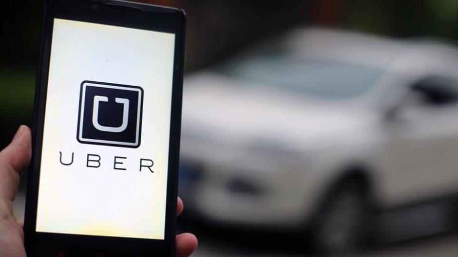 uber em tela de celular