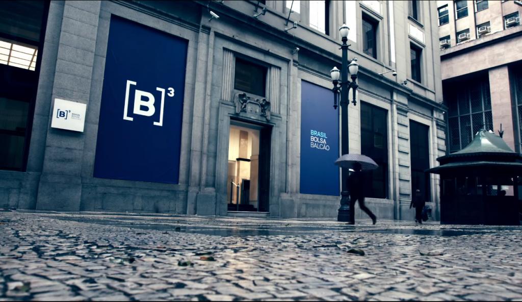 Faixada da B3, a bolsa de valores brasileira