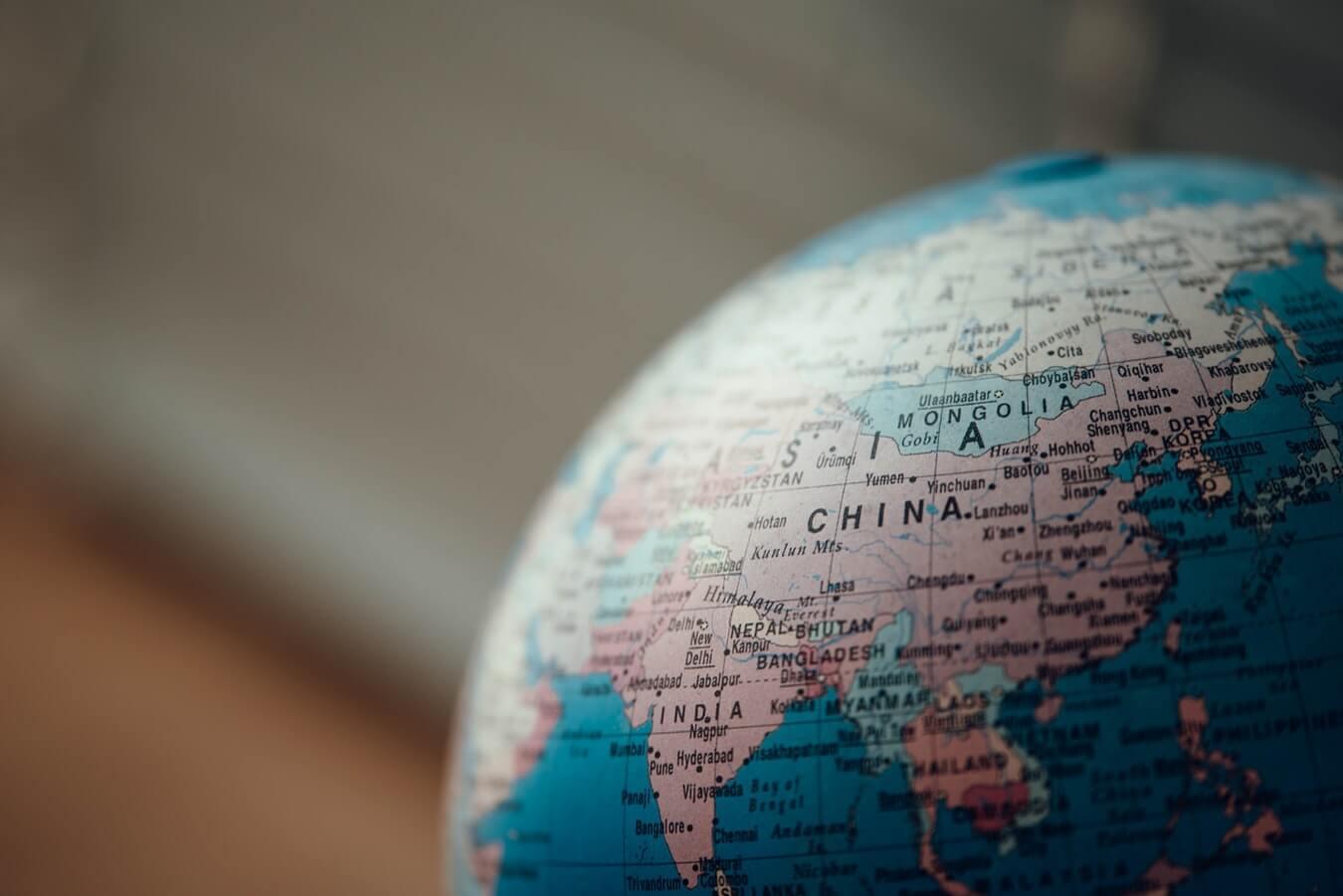 globo terrestre china