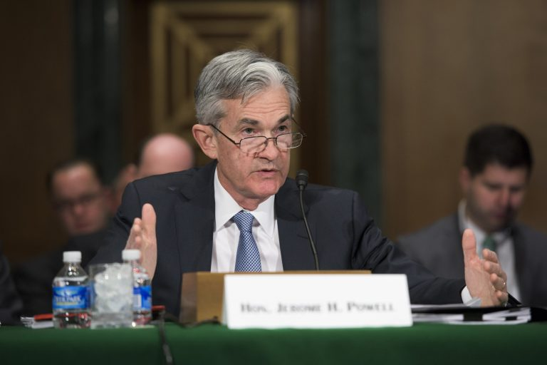 Governor Jerome H. Powell testifies before a joint hearing of the Senate Banking Subcommittee on Securities, Insurance, and Investments and the Subcommittee on Economic Policy in Washington, D.C., on April 14, 2016.