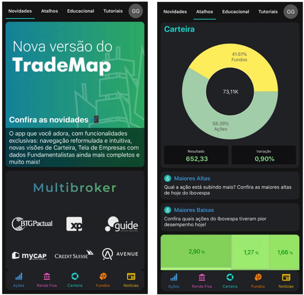 Nova navegação do TradeMap 3.0