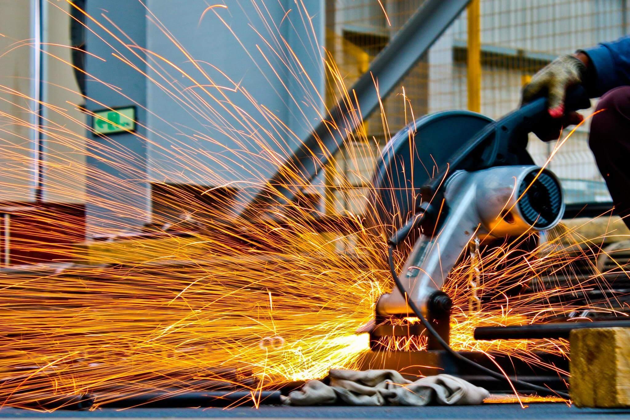 Indústria, foto de Pexels