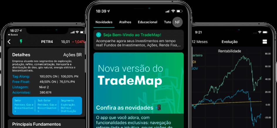 trio smartphone trademap print de telas